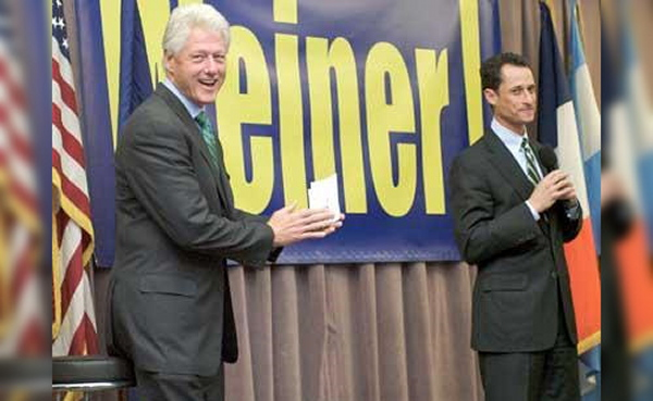 Image result for anthony weiner bill clinton